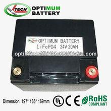 Price li-ion battery pack 24v 20ah