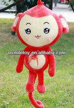 50cm valentine's day gift animal plush red monkey