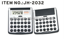 JH4032 desktop 8 digital dual power calculator with flip cover