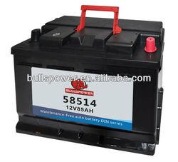 58514 DIN Standard 12v85ah car battery volta batteries