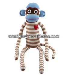 Cute stuffed plush toy Sock Monkey