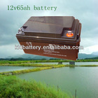 12v65ah sealed rechargeable lead acid solar battery /UPS cell China