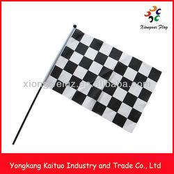 30x45cm car speed racing fans celebration handy flag car race starting line flag