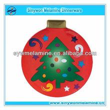 Tree printed Melamine christmas Plate