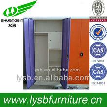 5 door wardrobe with mirror,vertical design wardrobe space saving