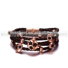 nero braccialetti di perline di corallo nero braccialetti bracciali di metallo nero