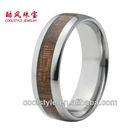Nice tungsten wood inlay ring, cool tungsten men wedding band, best seller tungsten ring
