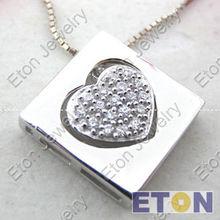 Nice zircon pedants with heart marking