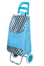 Unfoldable reusable wheeled trolley shopping cart Bag