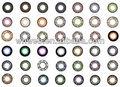 caliente y nuevo color de la magia del color lentes de contacto blandas con diferentes colores