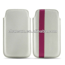 """mobile phone PU pouch for iphone 5"""" pouch case, available for other models"""