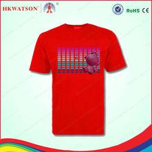 custom led t-shirt t-shirts with led el wire clothes el tshirt for export