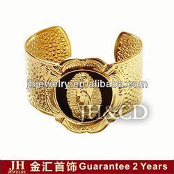 Gold Plated Bangle JH fashion jewelry big pearl rings
