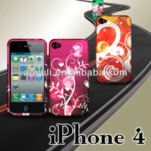 fancy cellular cover case with novelty design for iPhone4