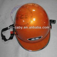 Yellow mini motorcycle helmet