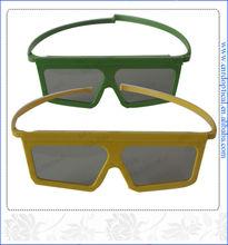 compare linear polarized glasses plastic 3d for theatre imax movie and normal tv