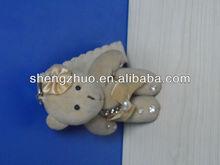 Stuffed plush bear with diamond keychain