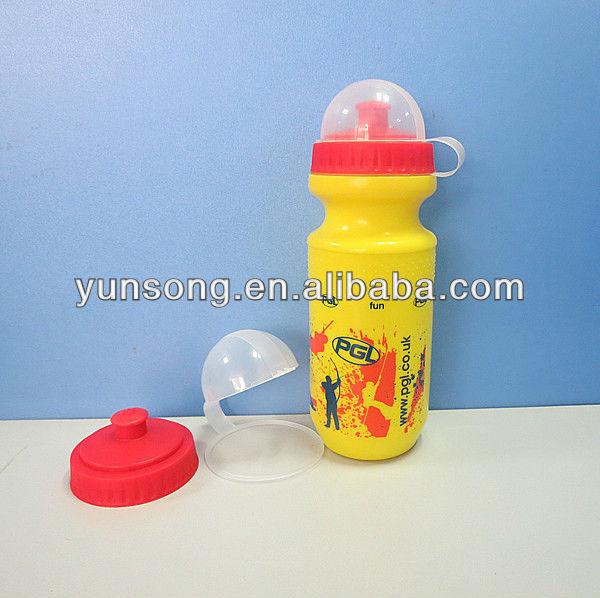 eco-friendly 650ml non-slip rubber grip travel water bottle