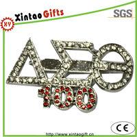 Custom diamond alphabet letters lapel pin