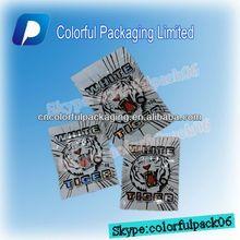 WHITE TIGER 4g 10g aluminium foil zipper packing/aluminum foil ziplock spice bag
