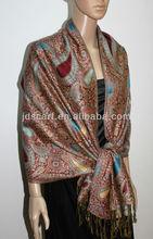indian jacquard shawl women winter warm shawls lady winter wraps and shawls (JDC-134 col.0310#)