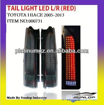 Toyota hiace LED tail light body parts new model #000731toyota hiace tail lamp LED HIACE2005-2013/commuter/hiace van