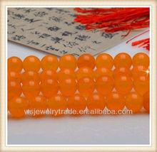 White Jade Add Orange Color Beads For DIY Handmade Material