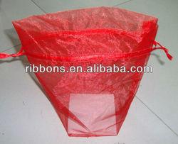 Red Organza Mini Drawstring Bag organza bag