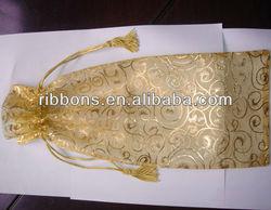 wine mini drawstring bags organza bag