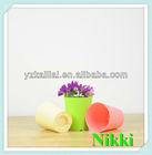 2013 colorful decorate family beautiful plastic flower pot, square small pot,saucer flowerpot-KLTG-100