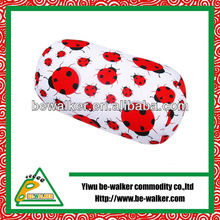 ladybug print filled pillow of stereo feeling /microbead cylinder cushion 2013