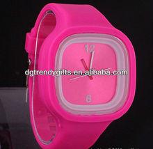 Fashion sport square color watches silicon