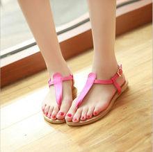 2013 New Sweet Candy Color Flat Flip-Flop Sandals Pink/Black/Rose/BlueCD13051901