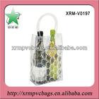 Two bottles red wines cooler bag