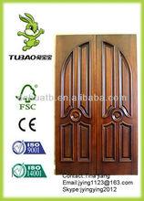 double entry wood door