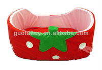 Funny strawberry printed plush pet dog sofa bed for sale