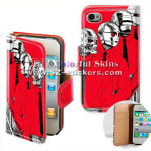 leather ghost design case for iphone 4 4s cover