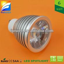 Replace 50w halogen spot, 110v/220v/240v dimmable 6w led gu10 led lamp housing