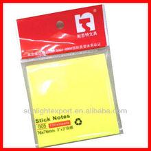 bright color sticky note memo pad