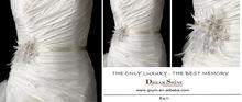 WB198 2013 latest design custom made beadings metal embellished feather bridal wedding belt