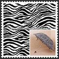 190t de poliéster de impresión zebra tafetán de tela del paraguas fabricante
