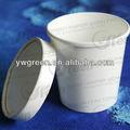 Descartáveis copos de iogurte congelado, compostáveis papel tirar o recipiente de alimento para a sopa quente