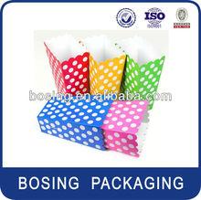 paper popcorn box,scallop-edged treat box