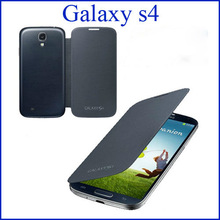 Battery Housing Leather Case For Samsung Galaxy S4 I9500 SIV Back Cover Flip 10 colors with Retail Packing