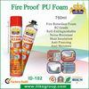 Fire proof construction seal insulation spray polyurethane foam 750ml