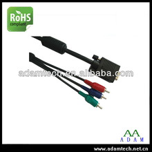 Coaxial vga to Yellow/red/Green rca male cable