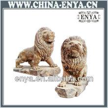 Antique Wood Lion Sculpture, Wood Carving