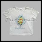 100% Cotton White Printed Cartoon Boy Kids T-shirt Design