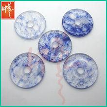 Personnalisé spécial antique bleu dentelle verre de naissance anneau pendentif