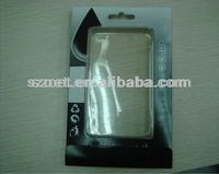clear plastic phone hard/leather cover/case packaging box/blister packaging